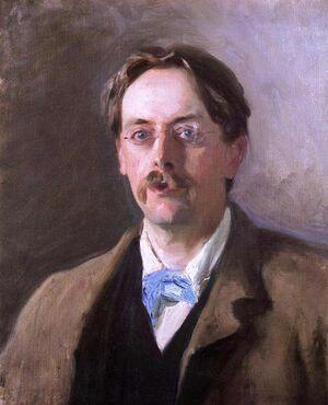 Edmund Gosse by John Singer Sargent
