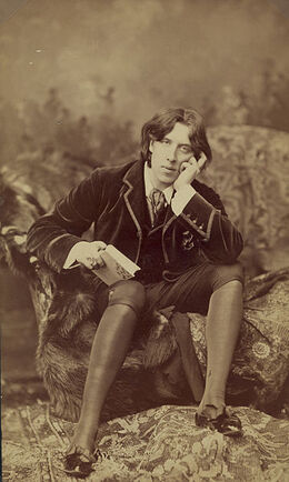 Oscar Wilde by Napoleon Sarony (1821-1896) Number 18 b