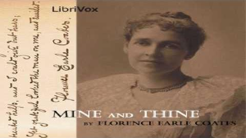 Mine and Thine Florence Earle Coates Poetry Speaking Book English 1 2