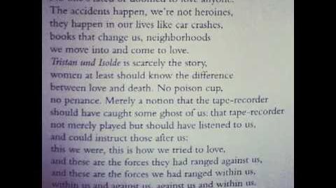 Adrienne Rich reads from Twenty-One Love Poems