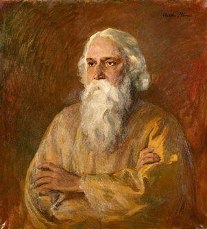 Walther Illner Porträt Rabindranath Tagore