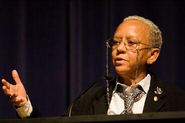 Nikki Giovanni speaking at Emory University 2008