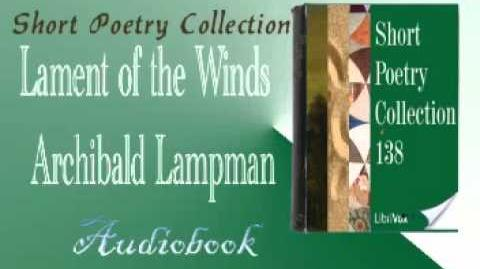 Lament of the Winds Archibald Lampman Audiobook