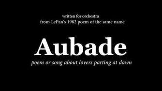 Aubade Original Composition for Orchestra