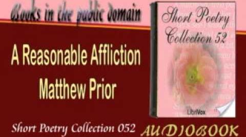 A Reasonable Affliction Matthew Prior Audiobook