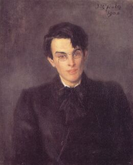 William Butler Yeats by John Butler Yeats 1900