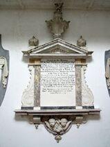 Nicholas Herbert memorial in St Andrew's Church, Little Glemham