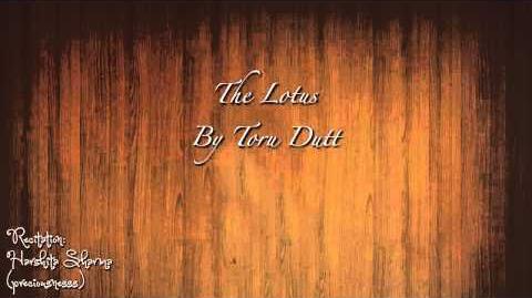 The Lotus, by Toru Dutt