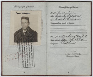 Jean Toomer passport 1926