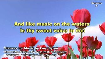 Stanzas for Music, Lord Byron, Poem Video