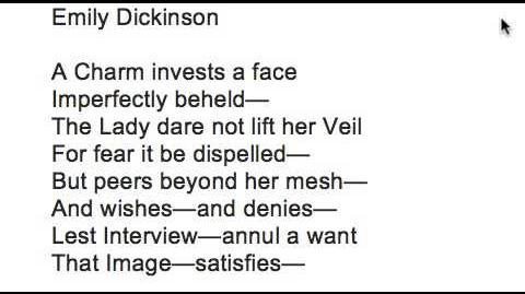 Emily Dickinson poem