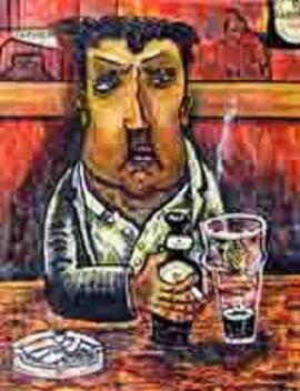 Painting of Brendan Behan by Brian Whelan 2013