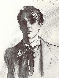 William Butler Yeats by John Singer Sargent 1908