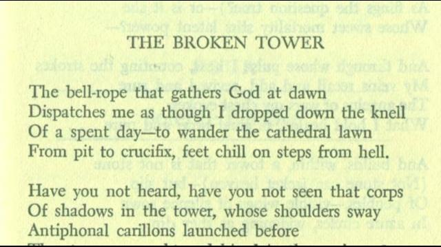 Hart Crane read by Tennessee Williams, The Broken Tower
