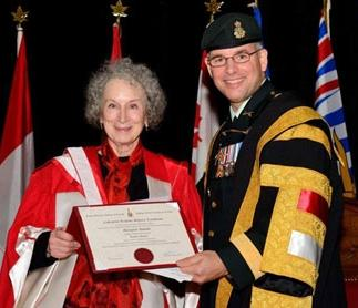 Commandant Eric Tremblay Royal Military College of Canada awards honorary degree to Margaret Atwood