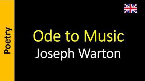 Ode to Music - Joseph Warton