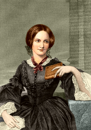Charlotte Bronte coloured drawing