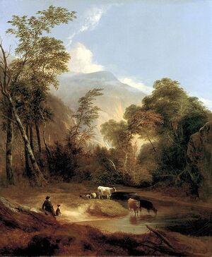 Pastoral Landscape by Alvan Fisher, 1854