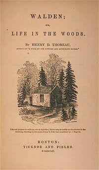 1854 Walden byThoreau