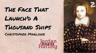 The Face That Launch'd A Thousand Ships - Christopher Marlowe poem reading Jordan Harling Reads