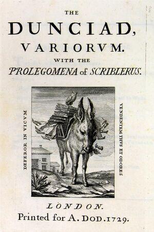 Dunciad 1729