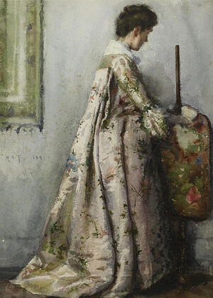 429px-Henry Scott Tuke - The silk gown, Portrait of Maria Tuke Sainsbury