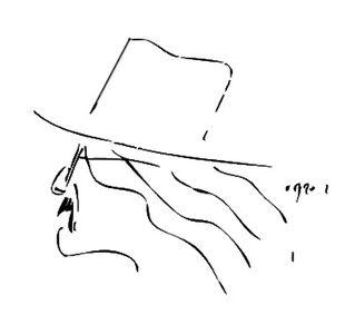 Richard Brautigan drawing