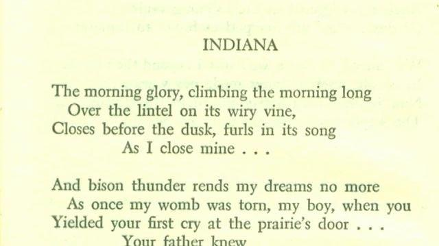 Hart Crane read by Tennessee Williams, Indiana-0
