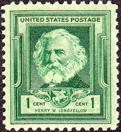 Henry Wadsworth Longfellow 1940 Issue-1c