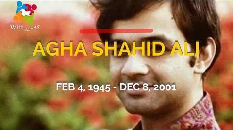 Agha Shahid Ali Reading His Poetry Himself With Subtitles