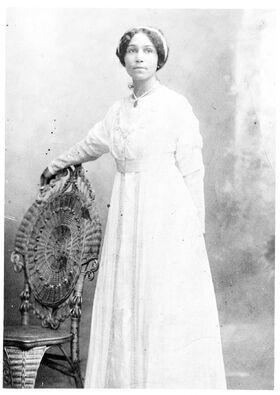 Anne Bethel Spencer in her wedding dress