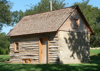 Home on the Range cabin from SE 1