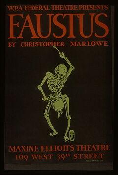 WPA poster Christopher Marlowe Faustus