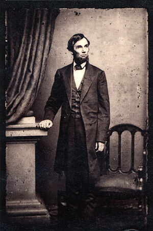 Abraham Lincoln standing portrait 1863