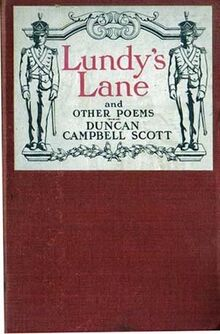 Lundy's Lane and Other Poems, by Duncan Campbell Scott - cover