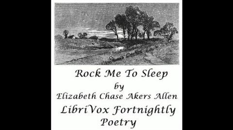 Rock Me to Sleep by Elizabeth Chase Akers Allen Poem