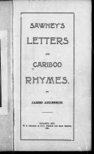 Sawney's Rhymes