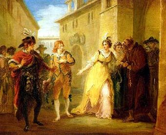 William Hamilton, A Scene from Twelfth Night