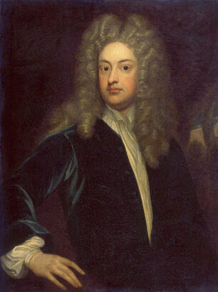 Joseph Addison by Sir Godfrey Kneller, Bt cleaned