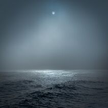Stormy moonlit ocean, Southwold