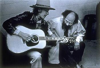 Allen Ginsberg and Bob Dylan by Elsa Dorfman