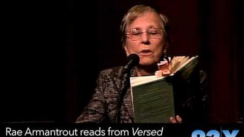 Rae Armantrout reading from her Pulitzer Prize winning book Versed
