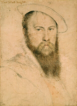 Sir Thomas Wyatt (1) by Hans Holbein the Younger