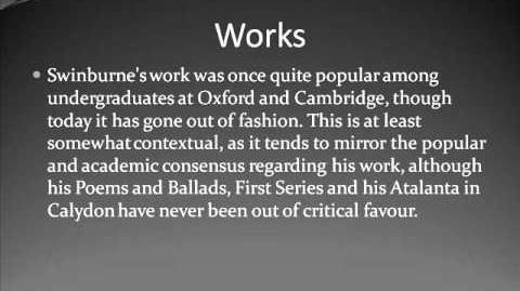 Algernon Charles Swinburne Life & Works