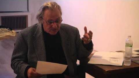 Gerard Malanga reading his poetry