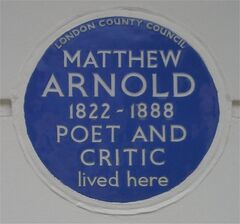 Blue plaque Matthew Arnold
