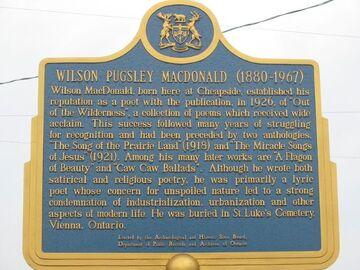 Wilson macdonald-plaque