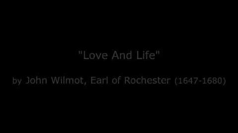 "Poetry Reading Series ""Love And Life"" by John Wilmot, Earl of Rochester"