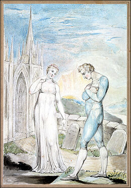 William Blake - Whilst, surfeited upon thy Damask Cheek, the high fed Worm in lazy Volumes roll'd, riots unscar'd