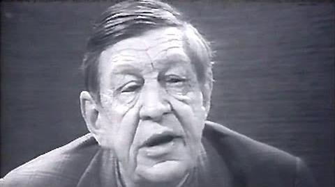 """WH Auden recites """"Doggerel by a Senior Citizen"""" 1969"""